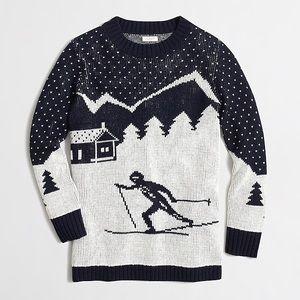 J. Crew Intarsia Ski Scene Sweater